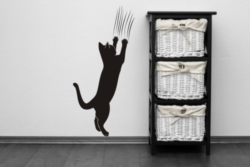 Naklejka Na ścianę Kot Z Pazurami 27 Wikam Naklejka Kot Z